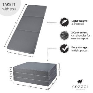 Cozzzi Twin Folding Mattress 3 300x300 image