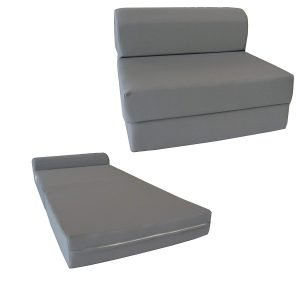 D and D Furniture 6 Thick Twin Size Gray Sleeper 4 300x300 image