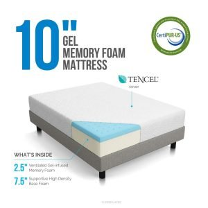 LUCID 10 inch Dual Layered Mattress 1 300x300 image