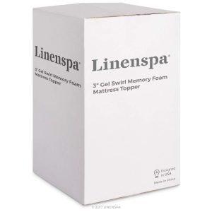 Linenspa 3 Inch Gel Swirl Memory Foam Topper 2 300x300 image