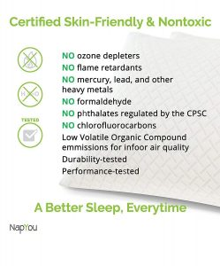 NapYou Shredded Certipur Memory Foam Pillow 1 249x300 image