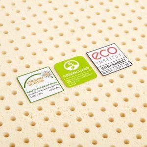Pure Green 2 Inch Natural Latex Mattress Topper Medium Firmness 2 300x300 image