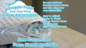 Snuggle Pedic Bamboo Shredded Memory Foam Pillow 2 300x169 image