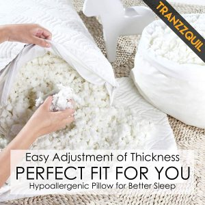 TRANZZQUIL Shredded Memory Foam Pillow 2 300x300 image