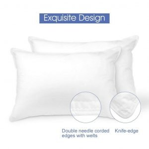 White Classic Down-Alternative Soft Bed Pillows-1