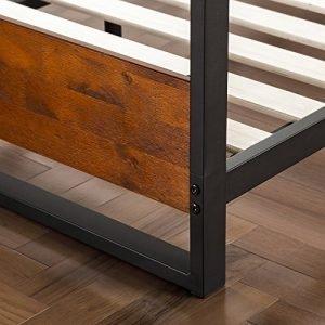 Zinus Ironline Metal and Wood Platform Bed-2