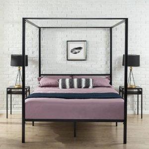 Zinus Metal Framed Canopy Four Poster Platform Bed Frame 3 300x299 image