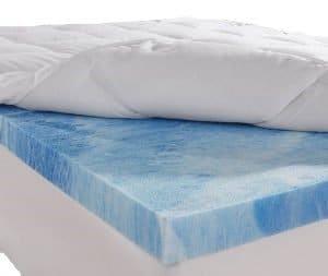 Advanced Sleep Solutions Gel Memory Foam Mattress Topper3 300x253 image