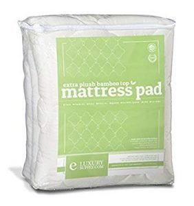 ExceptionalSheets Rayon from Bamboo Mattress Pad with Fitted Skir1 282x300 image