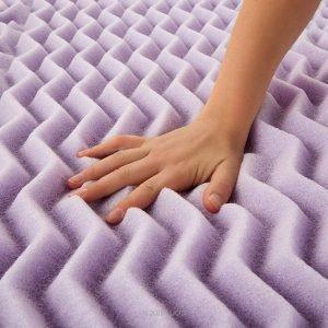 LUCID 5 Zone Lavender Memory Foam Mattress Topper1 300x300 image