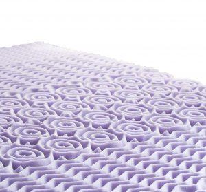 LUCID 5 Zone Lavender Memory Foam Mattress Topper4 300x279 image