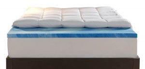 Sleep Innovations Gel Memory Foam Dual Layer Mattress Topper 1 300x143 image