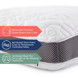 Perfect Cloud Double Airflow Memory Foam Pillow-3