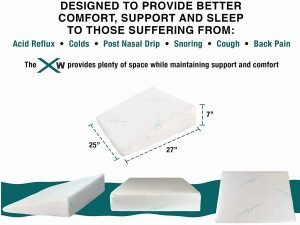 Xtreme Comforts Memory Foam Wedge Pillow-2