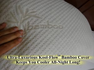 Snuggle-Pedic Bamboo Shredded Memory Foam Pillow-2