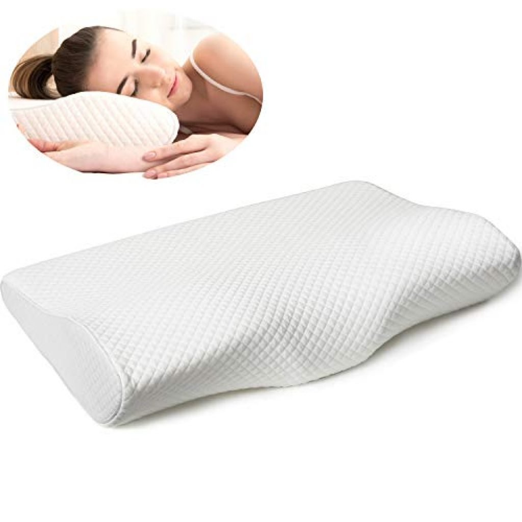 Comfort Contour Orthopedic Sleeping Memory Foam Pillows Firm for Head Neck Back