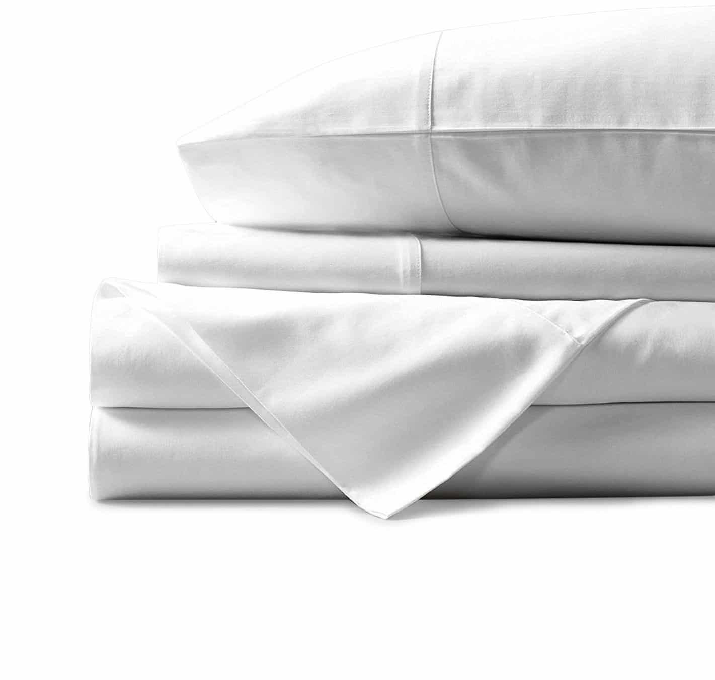 NIYS Luxury Bedding 100/% Egyptian Cotton Flat Bedsheets Percale Quality Beige, Double