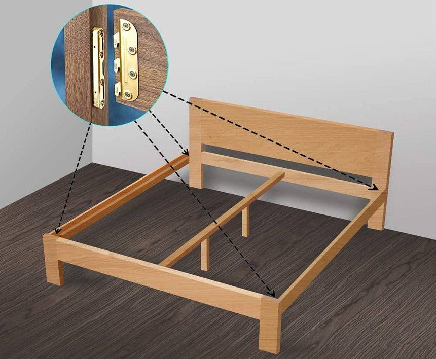 15 Heavy-duty Bed Frame Brackets to Fix or Modify Your Bed